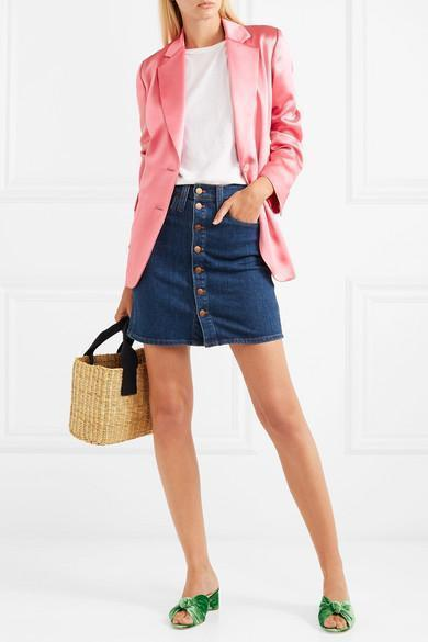 ad18a654a31 Madewell Pieced Beverly Denim Skirt In Mid Denim