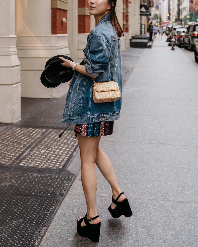 903aefef43ac Gucci Small Linea Cestino Glazed Wicker Shoulder Bag - Green   ModeSens
