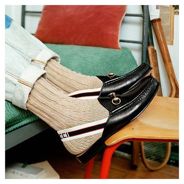 42a0b46df Gucci Open Roos Horsebit Leather Backless Loafers In 1000 Nero ...