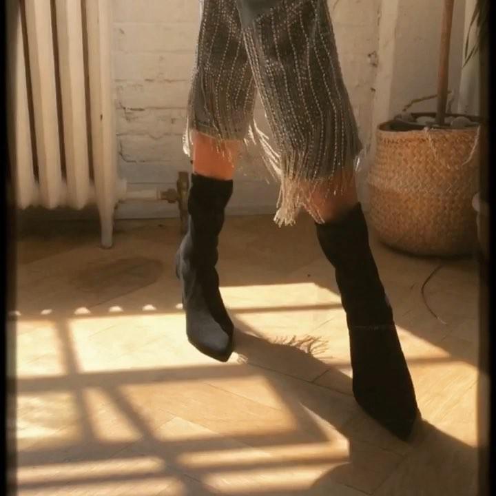 158c48a55827 Stuart Weitzman 100Mm Rapture Knit Sock Ankle Boots In Black