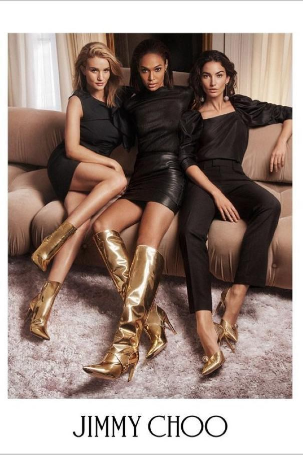 1047f3086593 JIMMY CHOO Hurley 100 Gold Liquid Mirror Leather Two-Piece Knee High Booties