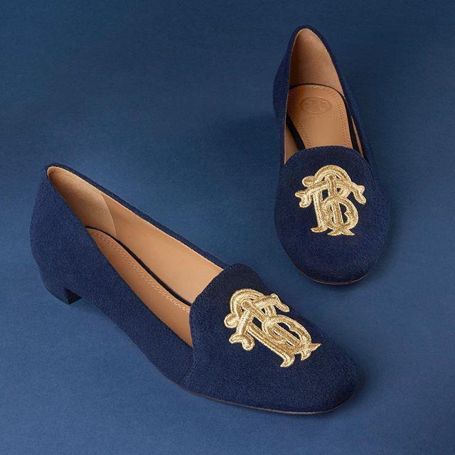 ce812f4ca01 Tory Burch Antonia Monogram Loafer In Imperial Garnet