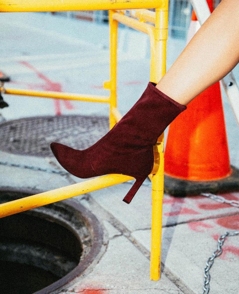 86cd0fc7f928 Stuart Weitzman Rapture 75 Suede Ankle Boots In Red