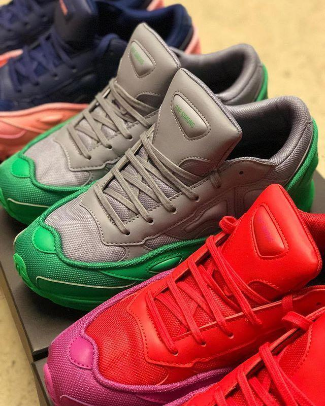 88388b1848a9ca RAF SIMONS Raf Simons Red And Purple Adidas Originals Edition Ozweego  Sneakers in 03033 Red
