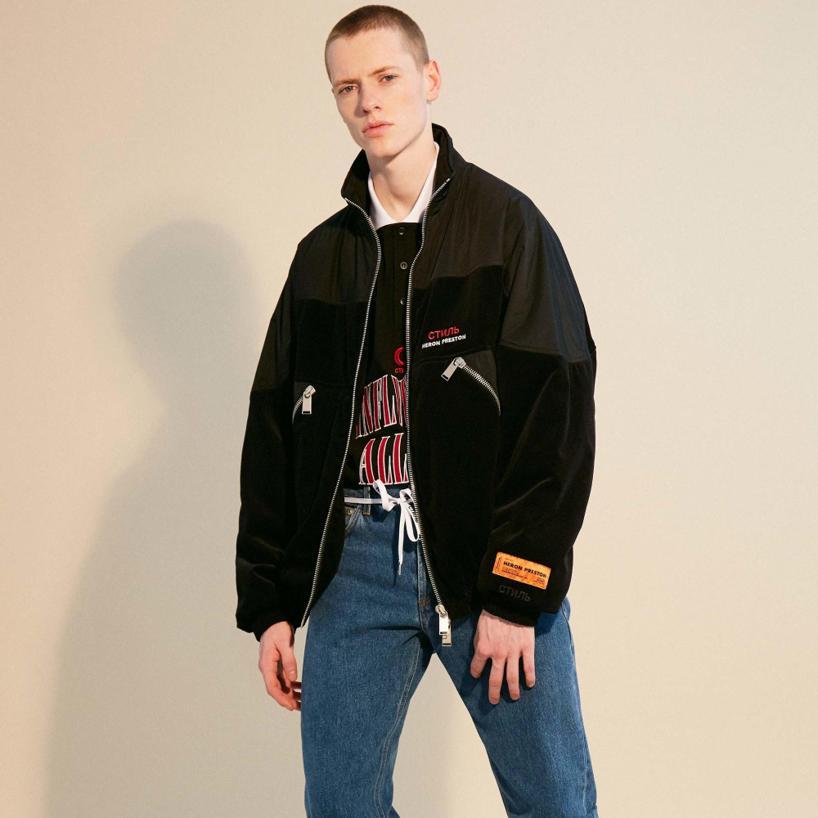 Heron Preston Shell Oversized Jacket And Black Velvet Bomber rOqrx6dEUw