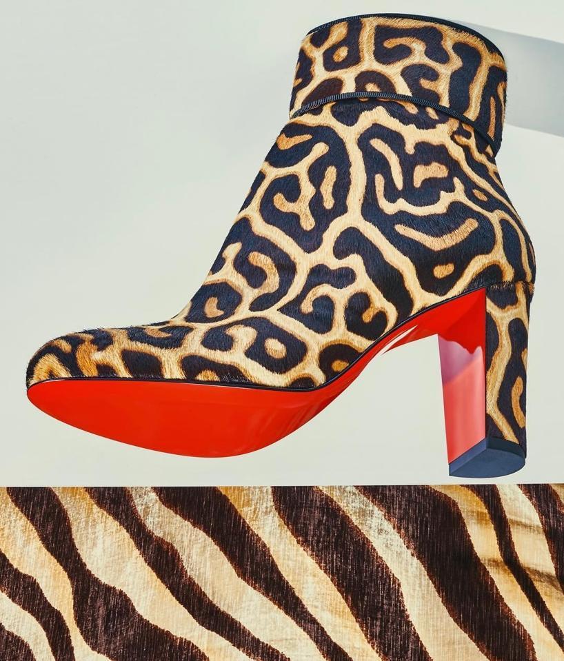 b84a6bfc62e Christian Louboutin Moulamax Calf Hair Ankle Boots - Black-Brown ...