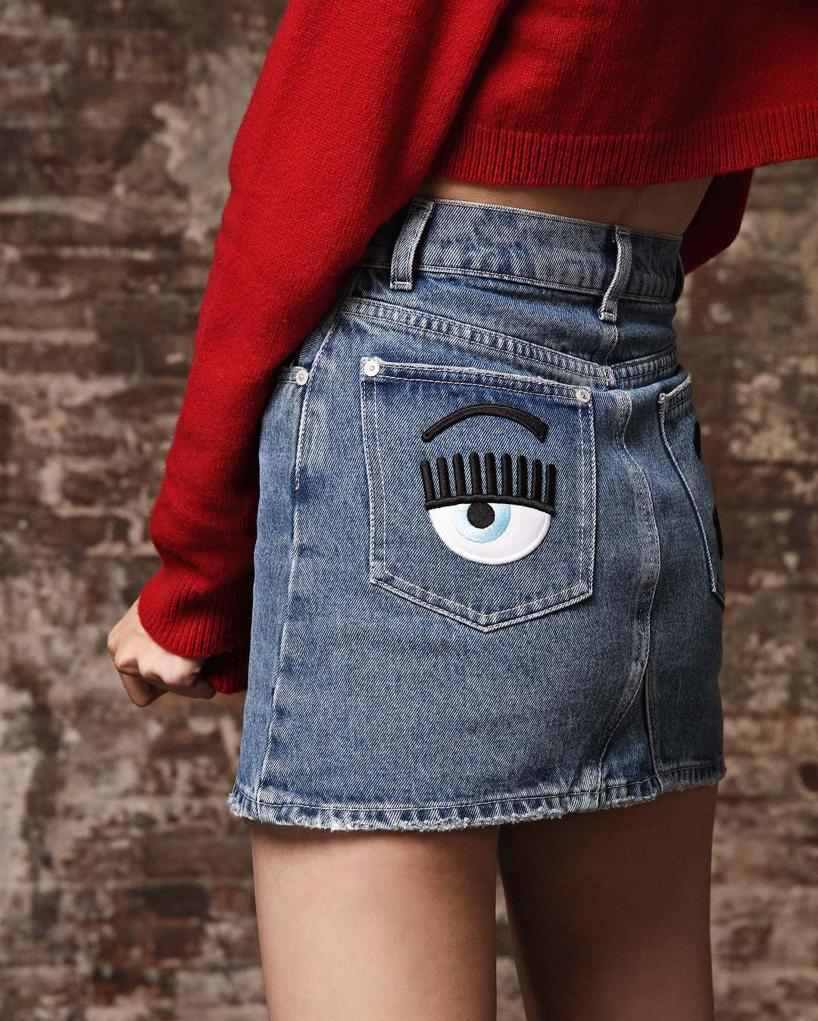 5371513ea4 CHIARA FERRAGNI Chiara Ferragni Wink Eye Denim Shorts - Blue