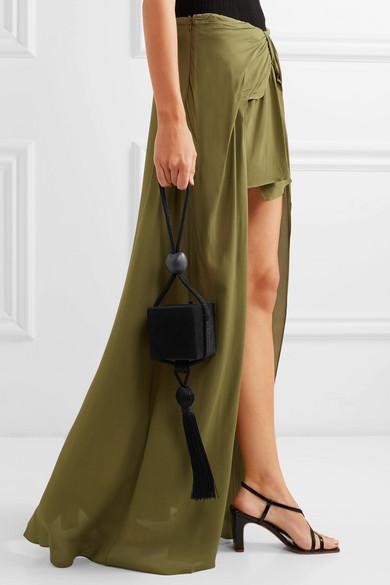 62bb6f003 Jacquemus Sahil Asymmetric Draped Crepe Skirt In Army Green | ModeSens