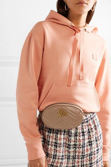 38399fc65116 Gucci Gg Marmont Quilted Leather Belt Bag In Nude | ModeSens