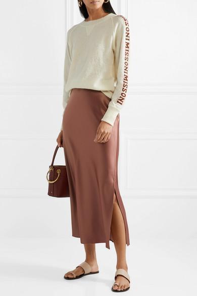 e68d4dc46fa289 Theory Satin Maxi Skirt In Copper | ModeSens