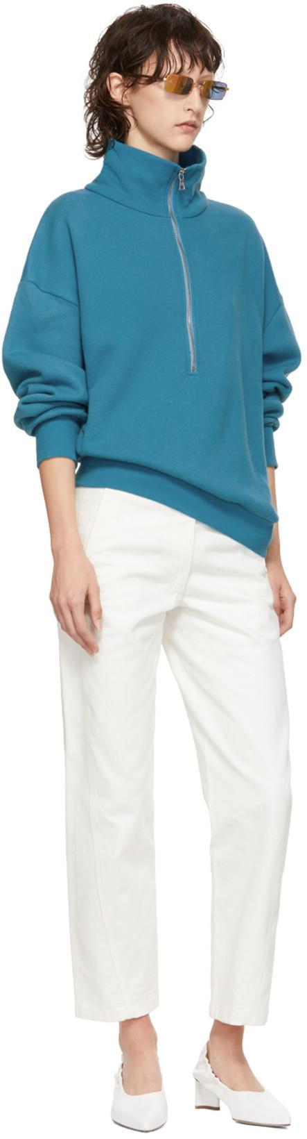 7df56b9406 SIMON MILLER Simon Miller Blue Rime Half-Zip Sweater in 54717 Teal