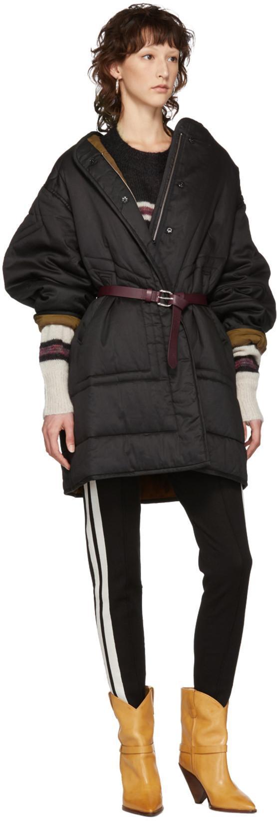 5988197a35 ETOILE ISABEL MARANT Isabel Marant Etoile Black Nao Padded Jacket in 02Fk  Black