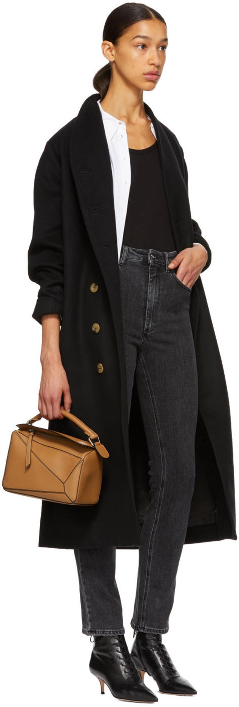 bda17b079092 TotÊMe Black Wool Bergerac Coat In 200 Black   ModeSens