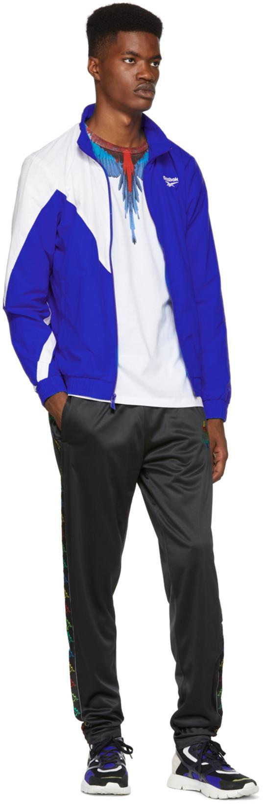 872f1085 Reebok Classics Blue And White Lf Track Jacket | ModeSens