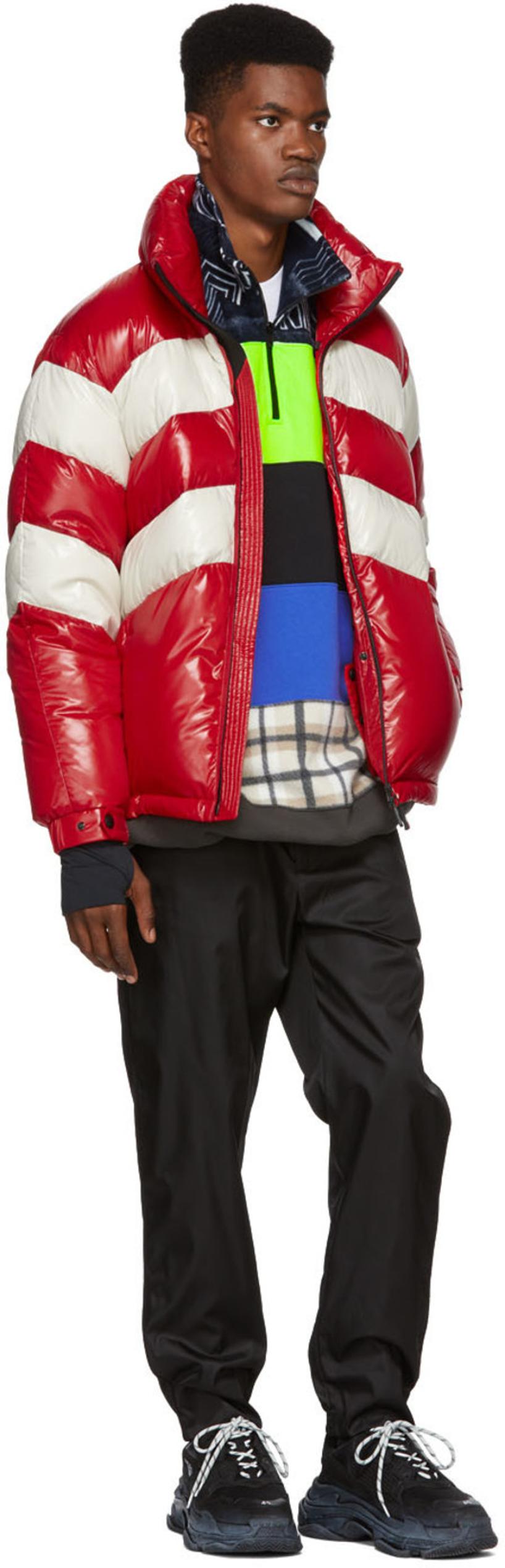 0e7e0361fea0 Moncler Grenoble Golzern Nylon Laque Down Jacket In Red