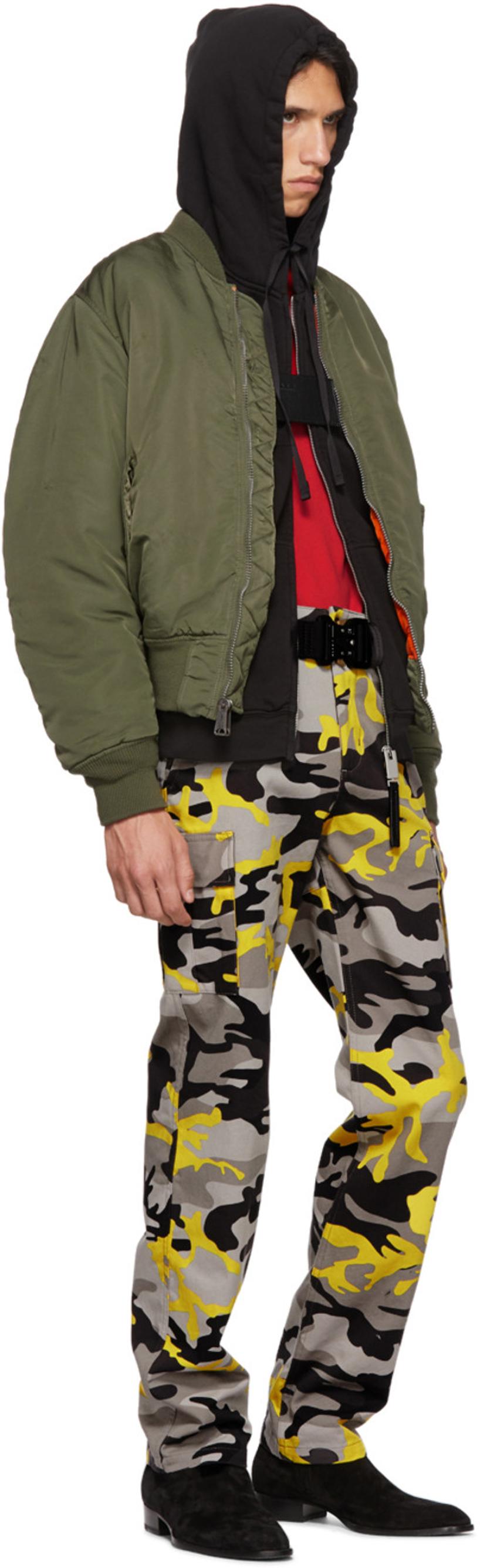 633efa668efd BALENCIAGA Slim-Fit Camouflage-Print Cotton-Twill Cargo Trousers - Yellow  in 8062