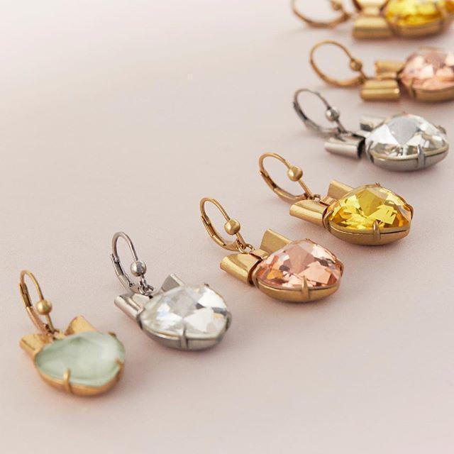 096fa9205 Tory Burch Heart & Bow Drop Earrings In Silver/ Black Diamond   ModeSens