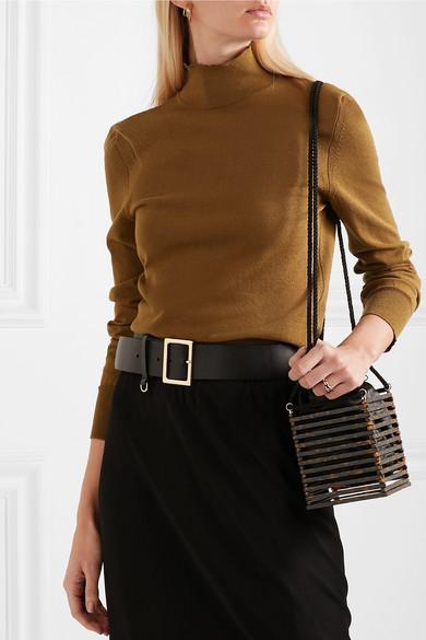 11fc2fd92a3 BY MALENE BIRGER Aliviay Asymmetric Crepe De Chine Maxi Skirt in Black