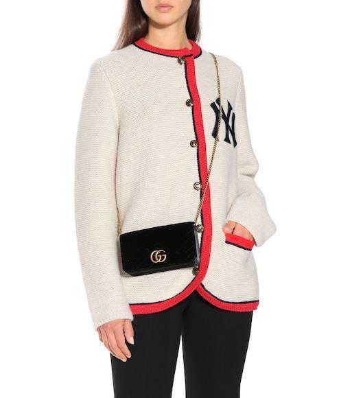 2547ff311 Gucci Wool & Alpaca Knit Cardigan W/ Ny Patch In Neutrals   ModeSens