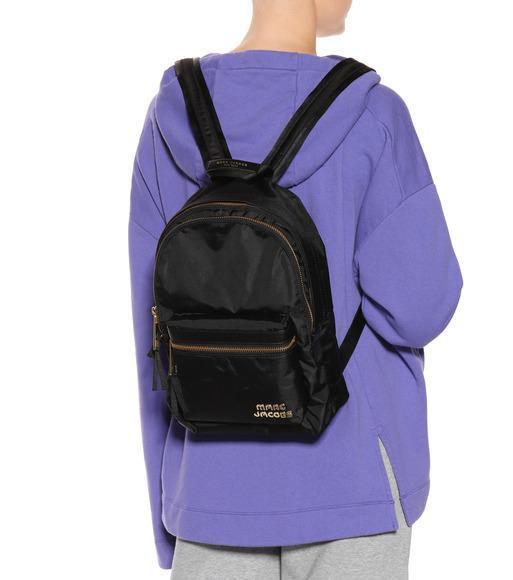 Marc Jacobs Trek Pack Medium Logo Backpack In Black  8449f7203c4d9