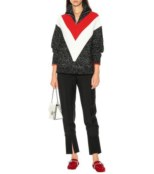 396dca2cf43 Givenchy Elegant Studded Velvet Mules - Wine