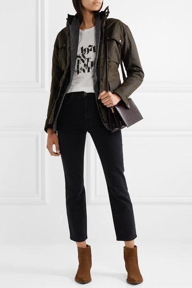 2921b78885 Saint Laurent Catherine Croc-Effect Leather Shoulder Bag
