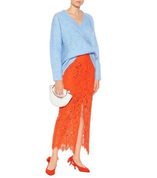 58568ec385e Ganni Evangelista Mohair-Blend Sweater In Blue