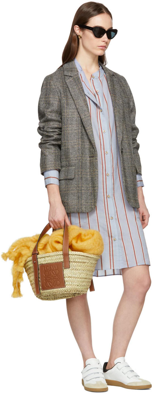 eb1e6701205ec ETOILE ISABEL MARANT Isabel Marant Etoile Beige And Grey Charly Oversized  Blazer in 90Be Beig