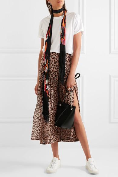 9034f7641d83 Rixo London Georgia Pleated Leopard-Print Silk Skirt | ModeSens