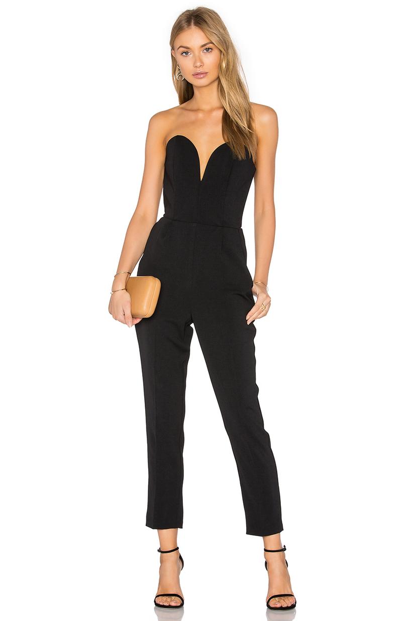 4e4297ebcf41 Amanda Uprichard Cherri Strapless Cropped Jumpsuit In Black