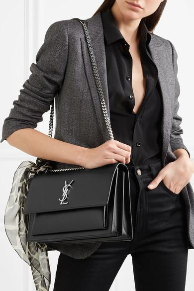 20ed187dbc9 Saint Laurent Silk Crepe De Chine Shirt In Black   ModeSens