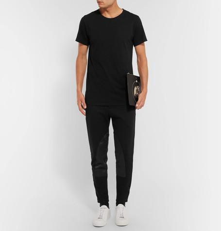 ff50046b0e1 BALMAIN Three-Pack Slim-Fit Distressed Cotton-Jersey T-Shirts in Multi