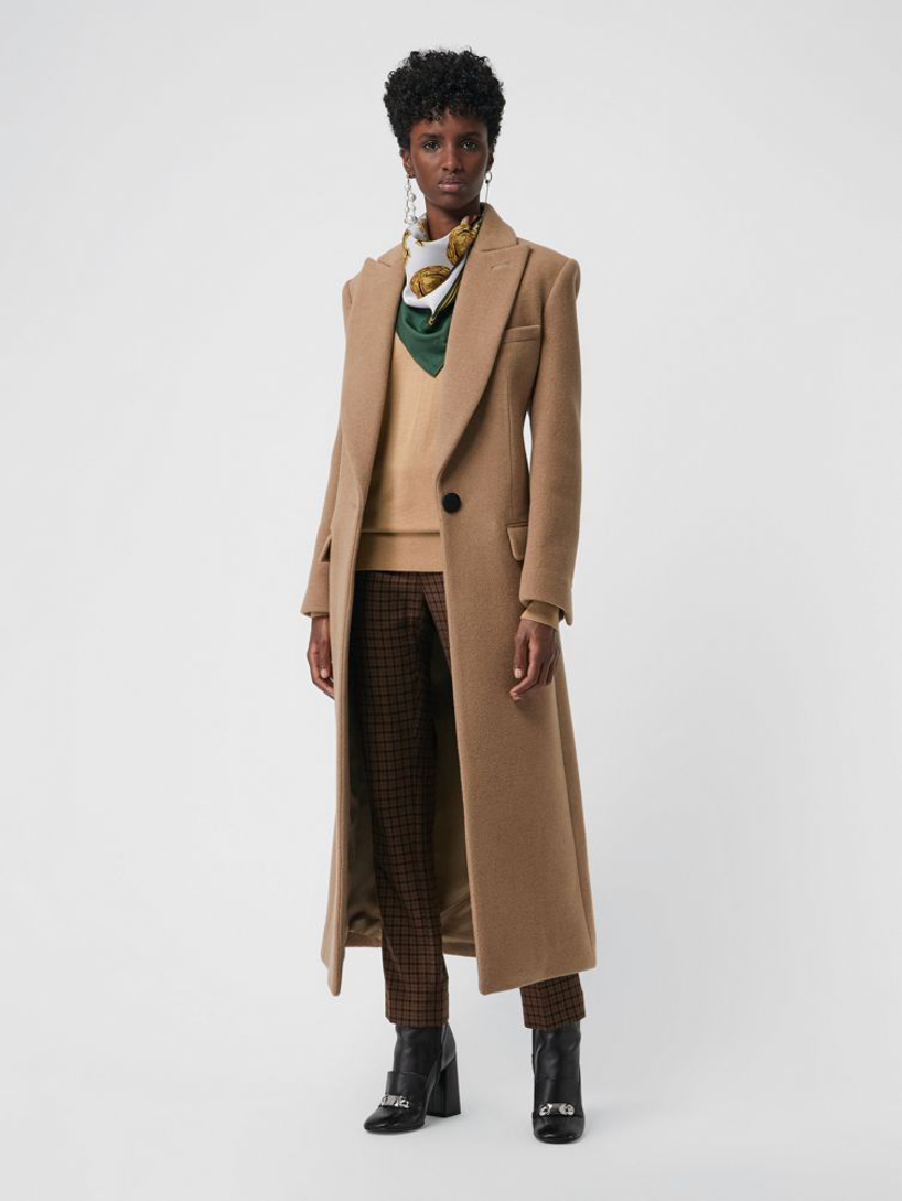 599a37eeda5e Burberry Wool Cashmere Tailored Coat In Camel