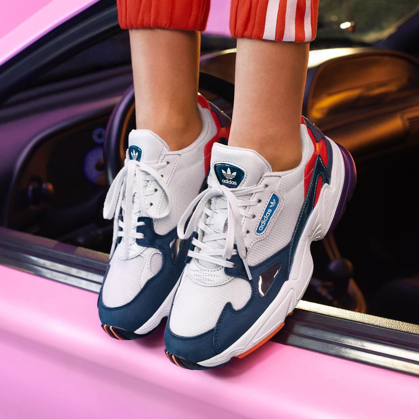 best sneakers 9f1c4 a1936 ADIDAS ORIGINALS Falcon Sneakers With Leather in Multicolored