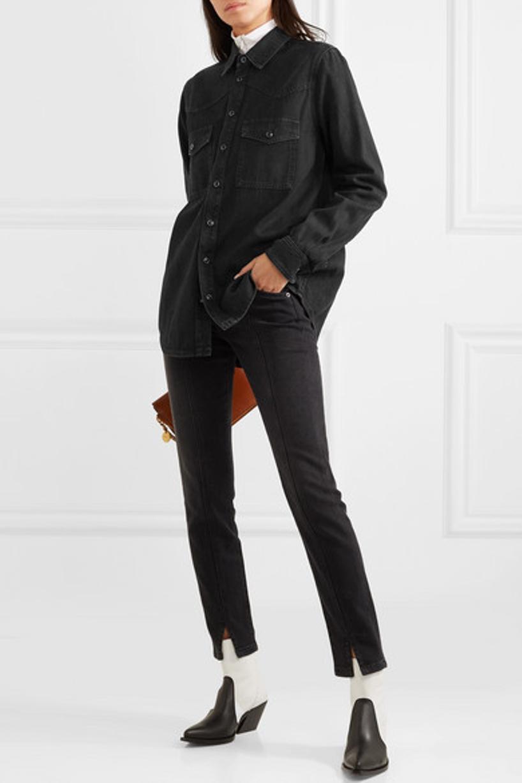 52962e7ef125 Givenchy Gv Cross Suede-Trimmed Leather Shoulder Bag In Tan