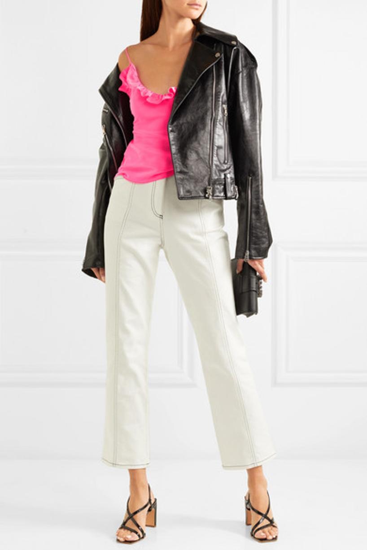 668db485ac2e MIU MIU Miu Lady Embellished Smooth And Textured-Leather Shoulder Bag in  Black
