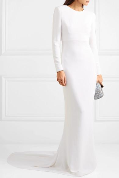 ad728777c08 Stella Mccartney F18 Ruby Long Sleeve Cutout Wedding Dress In White ...