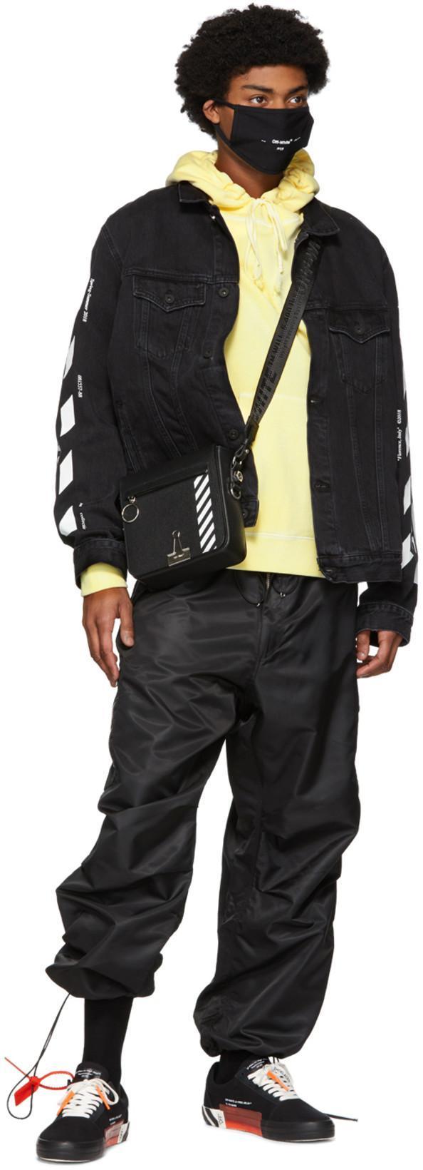 d1d148dd Off-White Black Diag Binder Clip Bag In Black/White | ModeSens