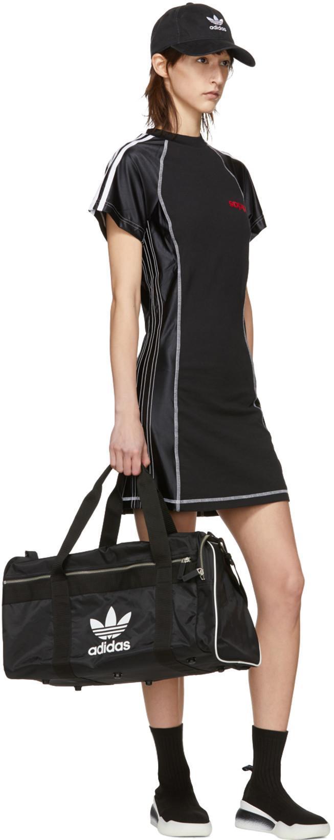 68d5c4603f ADIDAS ORIGINALS Adidas Originals Black Large Duffle Bag