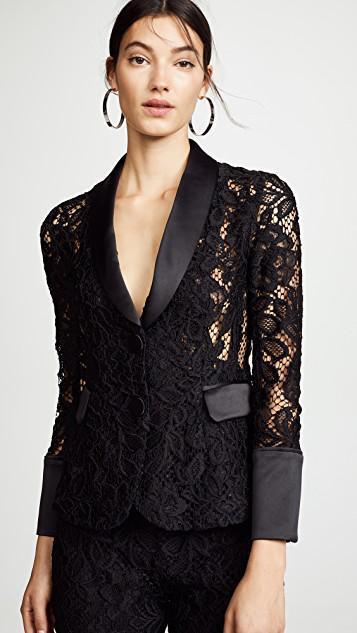 abf89fc9b0200 Alexis Bonis Lace Tuxedo Jacket In Black | ModeSens