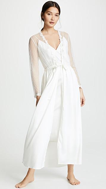 aa29b52d207 Olivia Von Halle Issa Amethyst Silk-Satin Slip Dress In Ivory