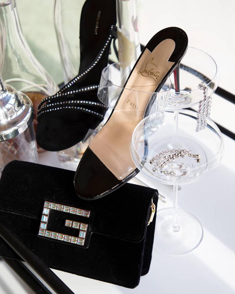 30b062c3b7a CHRISTIAN LOUBOUTIN Just Nothing 85 Pvc And Patent-Leather Mules in Black