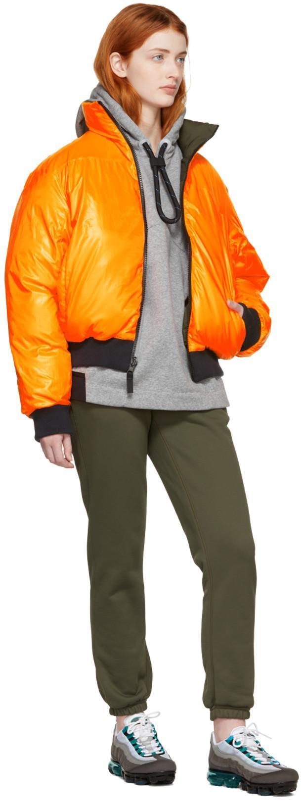 d41c787eae NIKE Nikelab Reversible Khaki And Orange Down Nrg Puffer Jacket in Cargo  Khaki