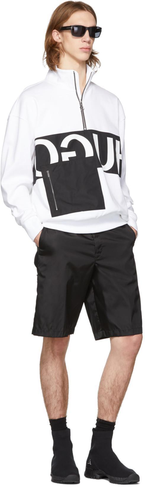 6d593d0e TOM FORD Tom Ford Black Mason Sunglasses in 02D Blk/Smo. Hugo White Reverse  Logo Patch Pocket Zip-Up Sweatshirt In 100 White
