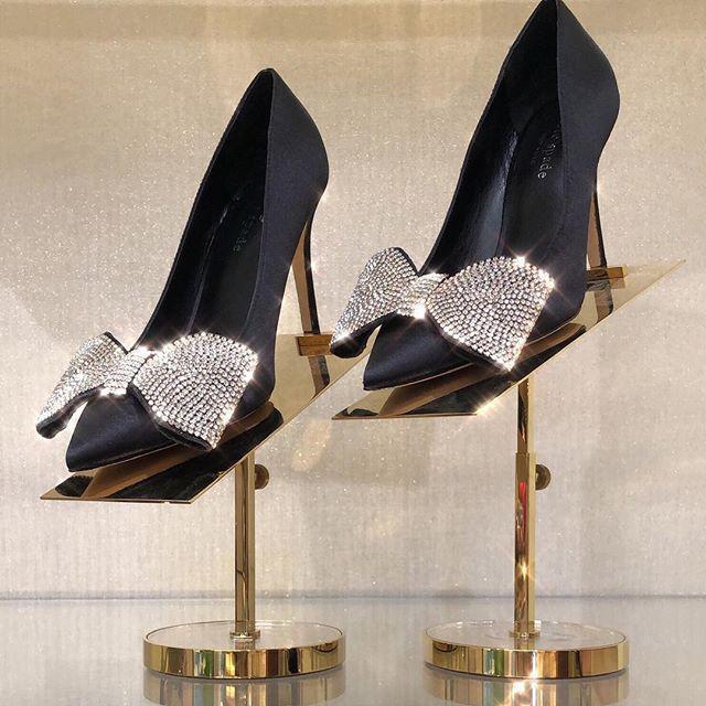 b8a659cc8a94 Kate Spade Viena Heels In Black Satin