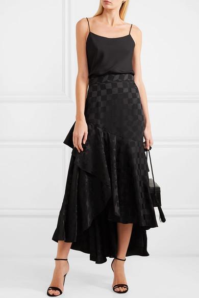 6a8248c76e054b Theory Teah Stretch-Silk Camisole In Black