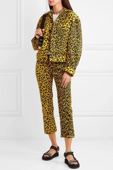 8ca74849234c R13 Joey Jean Yellow Leopard Print Skinny Jeans   ModeSens