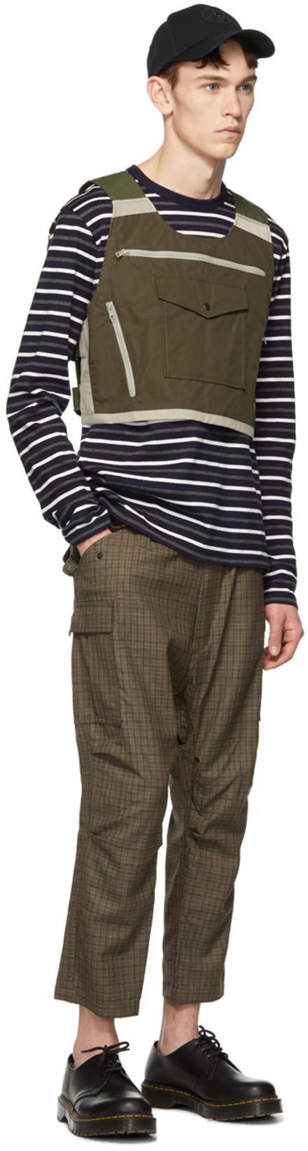 400bb42ff1 JUNYA WATANABE Junya Watanabe Navy Horizontal Stripes Long Sleeve T-Shirt  in 1 Nvy/