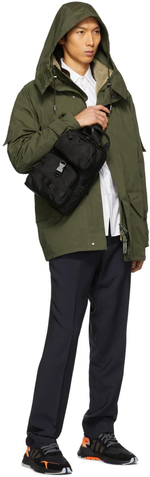 cd2b10f23216 PRADA Prada Black Nylon Mountain Messenger Bag in F0002 Nero