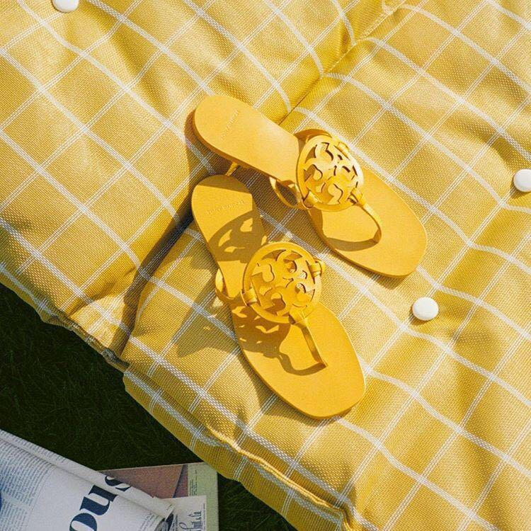 c3f5020a879408 toryburch  Our limited-edition Miller sandals  ToryBurchResort19  fresh   floral  musthave. Click to buy. TORY BURCH